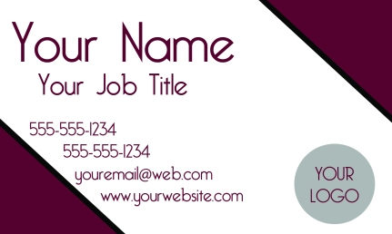 Pink Lady_business card sample